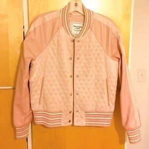 A&f faux leather jacket